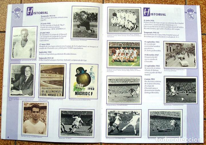 Álbum de fútbol completo: album 1994 Excelente estado, Real Madrid Futbol y Baloncesto. Himno Historia Jugadores - Foto 4 - 70029161