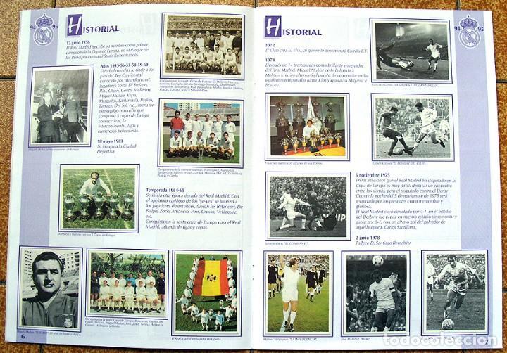 Álbum de fútbol completo: album 1994 Excelente estado, Real Madrid Futbol y Baloncesto. Himno Historia Jugadores - Foto 5 - 70029161