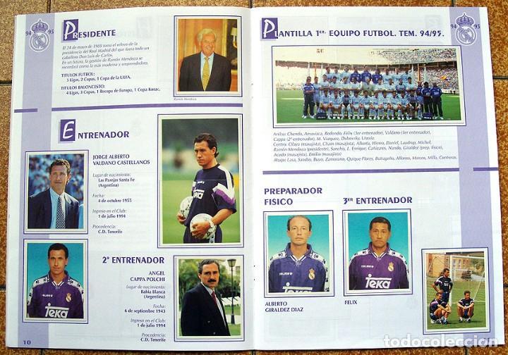 Álbum de fútbol completo: album 1994 Excelente estado, Real Madrid Futbol y Baloncesto. Himno Historia Jugadores - Foto 7 - 70029161