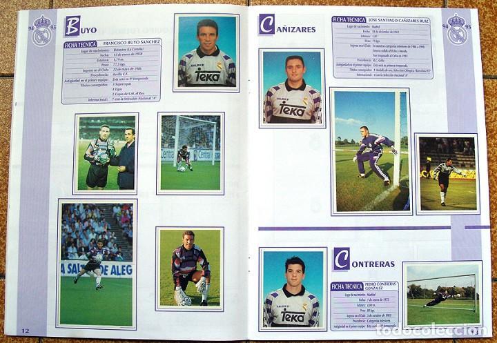 Álbum de fútbol completo: album 1994 Excelente estado, Real Madrid Futbol y Baloncesto. Himno Historia Jugadores - Foto 8 - 70029161