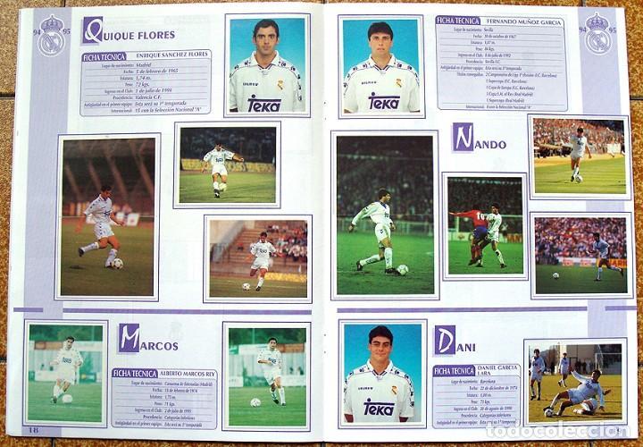 Álbum de fútbol completo: album 1994 Excelente estado, Real Madrid Futbol y Baloncesto. Himno Historia Jugadores - Foto 11 - 70029161