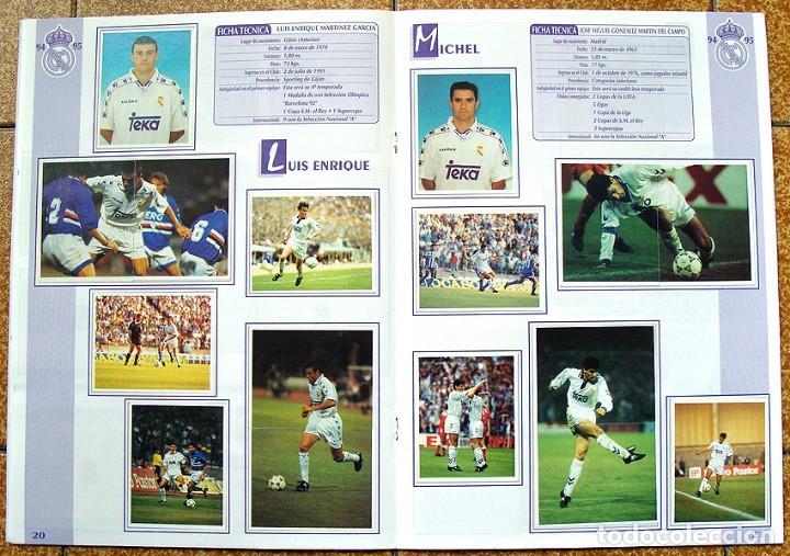 Álbum de fútbol completo: album 1994 Excelente estado, Real Madrid Futbol y Baloncesto. Himno Historia Jugadores - Foto 12 - 70029161