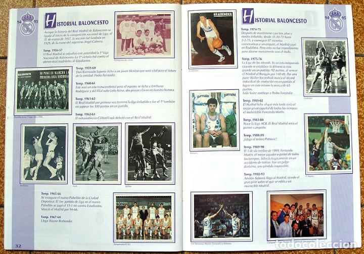 Álbum de fútbol completo: album 1994 Excelente estado, Real Madrid Futbol y Baloncesto. Himno Historia Jugadores - Foto 18 - 70029161
