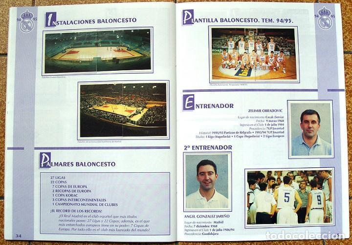 Álbum de fútbol completo: album 1994 Excelente estado, Real Madrid Futbol y Baloncesto. Himno Historia Jugadores - Foto 19 - 70029161