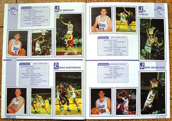 Álbum de fútbol completo: album 1994 Excelente estado, Real Madrid Futbol y Baloncesto. Himno Historia Jugadores - Foto 21 - 70029161