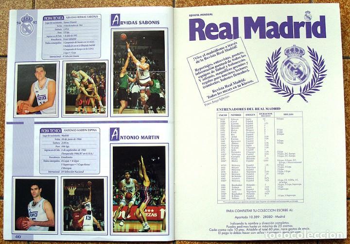 Álbum de fútbol completo: album 1994 Excelente estado, Real Madrid Futbol y Baloncesto. Himno Historia Jugadores - Foto 22 - 70029161