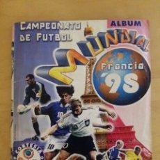 Álbum de fútbol completo: ALBUM MUNDIAL FRANCIA 98 COMPLETO EDITORIAL LIBERO. Lote 71123149