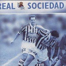 Álbum de fútbol completo: ALBUM CON HOJAS REAL SOCIEDAD DE SAN SEBASTIAN // TEMPORADA 98-99 FUTBOL. Lote 71287895