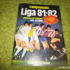 Álbum de fútbol completo: ALBUM DE CROMOS CAMPEONATO LIGA 81 - 82 COMPLETO SOLO FALTAN FICHAJES Nº 16 Y 19 DOBLES Y COLOCAS. Lote 71598767