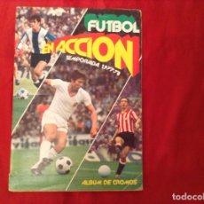 Álbum de fútbol completo: FÚTBOL EN ACCIÓN TEMPORADA 1977.78 PECOSA COMPLETO Y PEGADOS AL FILO MAS 29 COLOCAS SIN PEGAR. Lote 73410215
