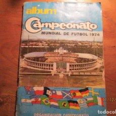 Álbum de fútbol completo: ALBUM COMPLETO MUNDIAL DE FUTBOL 1974. Lote 75119179
