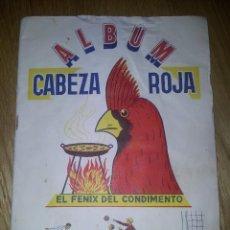 Álbum de fútbol completo: ALBUM FUTBOL CABEZA ROJA. EL FENIX DEL CONDIMENTO. COMPLETO. Lote 75587383