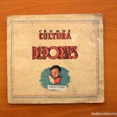 Álbum de fútbol completo: ALBUM LIGA 1941-1942, 41-42 - 1ª DIVISIÓN, EDITORIAL BRUGUERA, CROMOS CULTURA OCTAVO - COMPLETO. Lote 27344640