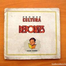 Álbum de fútbol completo: LIGA 1941-1942, 41-42 - BRUGUERA, CROMOS CULTURA ÁLBUM CUARTO - COMPLETO, CON 88 CROMOS DOBLES. Lote 75690331