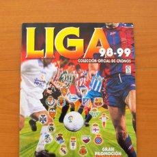 Álbum de fútbol completo: ÁLBUM LIGA 98-99, 1998-1999 - EDITORIAL PANINI - COMPLETO - VER FOTOS EN EL INTERIOR. Lote 76601823