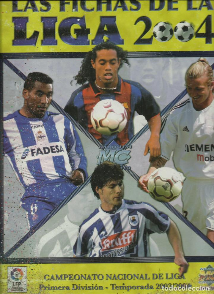 ALBUM COMPLETO DE LAS FICHAS DE LA LIGA 2004 CON 784 FICHAS SOLO FALTA EL Nº 770 (Coleccionismo Deportivo - Álbumes y Cromos de Deportes - Álbumes de Fútbol Completos)