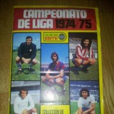 Álbum de fútbol completo: ALBUM CAMPEONATO DE LIGA 1974 / 75 . EDICIONES ESTE. Lote 78103273