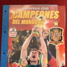 Álbum de fútbol completo: ALBUM CROMOS COMPLETO CAMPEONES DEL MUNDO MUNDIAL SUDAFRICA 2010 PANINI JUGON. Lote 78900509