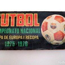 Álbum de fútbol completo: ALBUM 1975 1976 FUTBOL COPA EUROPA RECOPA 75 76 CAMPEONATO NACIONAL LIGA RUIZ ROMERO. Lote 79016325