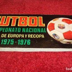 Álbum de fútbol completo: ALBUM 1975 1976 COPA EUROPA RECOPA 75 76 CAMPEONATO NACIONAL LIGA RUIZ ROMERO. COMPLETO. EXCELENTE. Lote 80584178