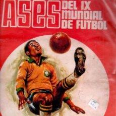 Álbum de fútbol completo: ASES DEL MUNDIAL DE MEXICO 1970 - COMPLETO. Lote 81575828