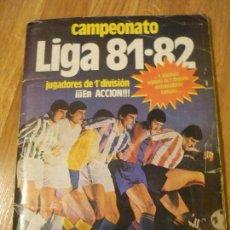 Álbum de fútbol completo: ÁLBUM ESTE 81-82 MUY COMPLETO CON 367 CROMOS (46 COLOCAS). Lote 81705936