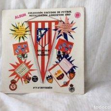 Álbum de fútbol completo: ALBUM ESCUDOS DE FUTBOL MATALIZADOS 1-2 DIVISION AÑO 1972 COMPLETO. Lote 81716140