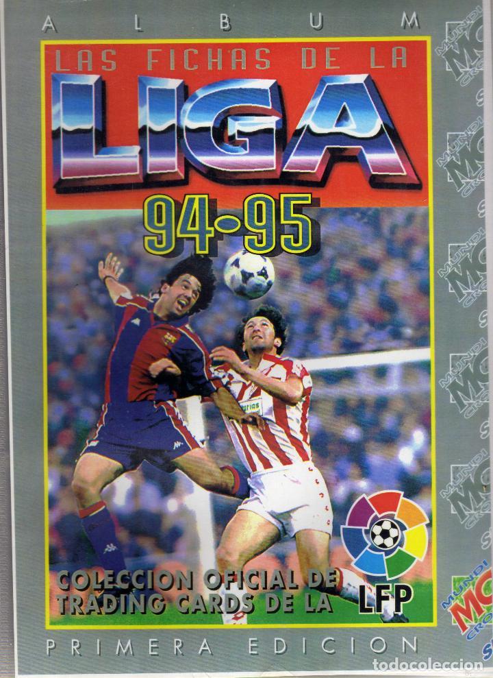 COLECCION COMPLETA SIN PEGAR DE LAS FICHAS DE LA LIGA 1994-95 DE MUNDI CROMO (Coleccionismo Deportivo - Álbumes y Cromos de Deportes - Álbumes de Fútbol Completos)