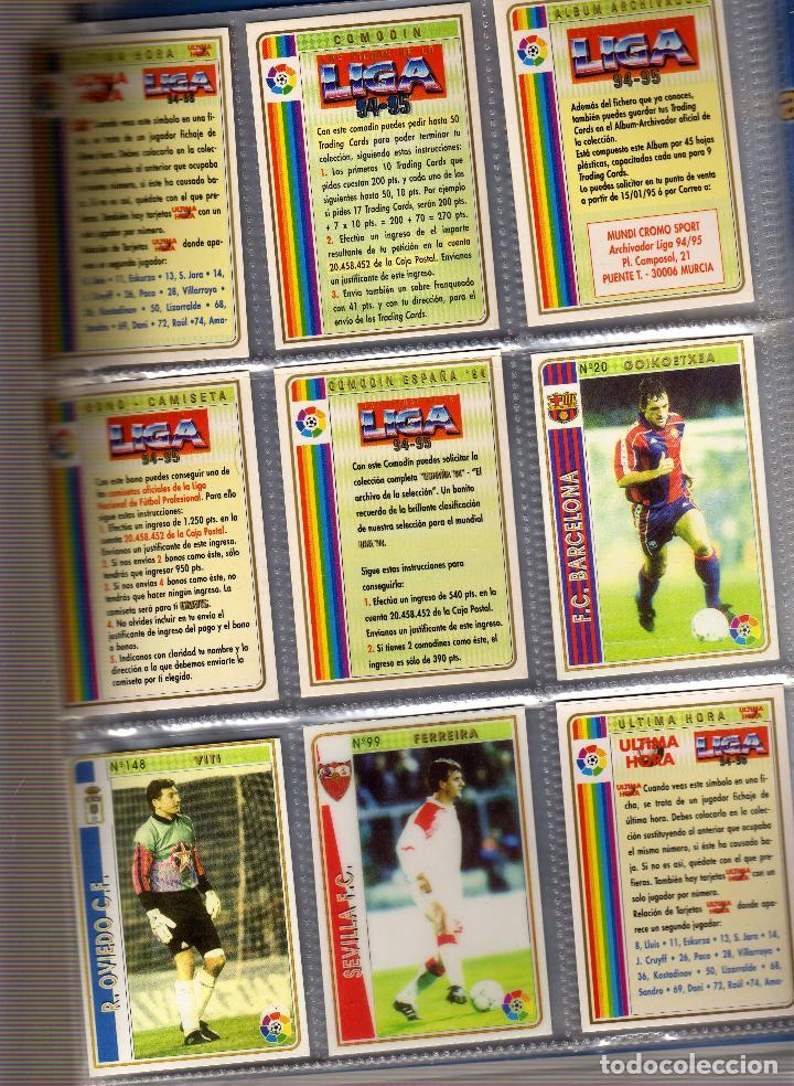 Álbum de fútbol completo: COLECCION COMPLETA SIN PEGAR DE LAS FICHAS DE LA LIGA 1994-95 DE MUNDI CROMO - Foto 2 - 82896360