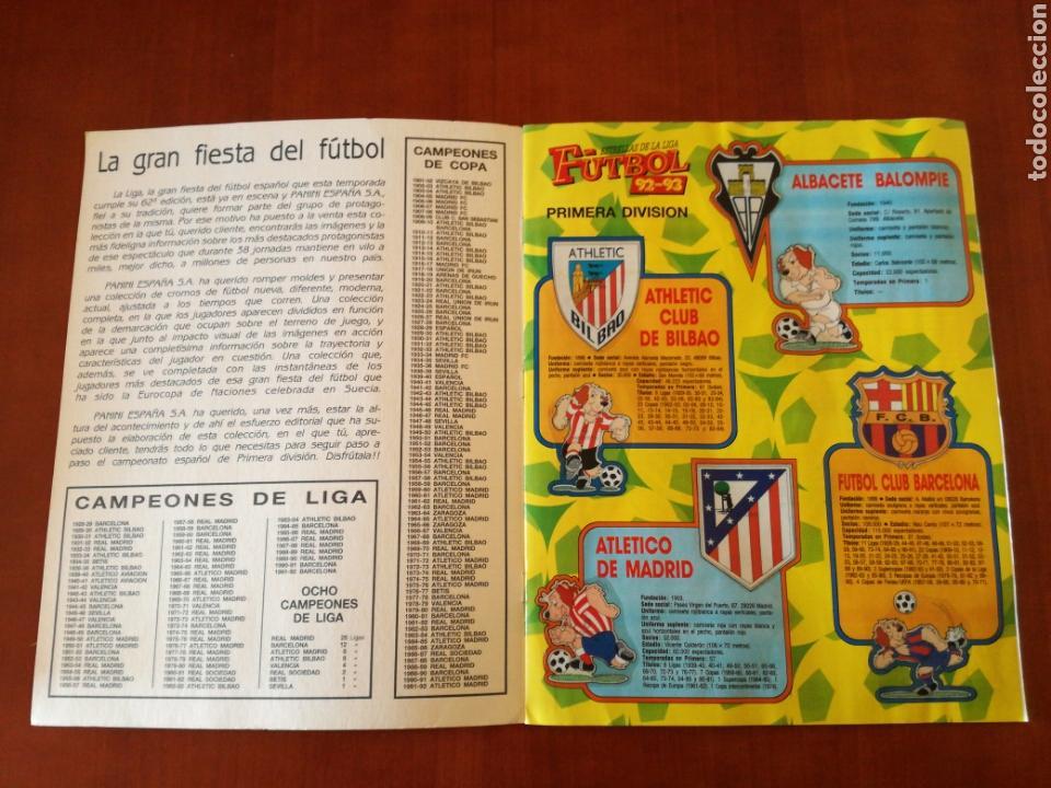 Álbum de fútbol completo: PANINI ESTRELLAS DE LA LIGA DE FUTBOL 92-93 COMPLETA - Foto 2 - 83629854