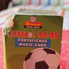 Álbum de fútbol completo: PORTAFICHAS MAGIC CARDS · FUTBOL 94-95 · MATUTANO. Lote 178783838