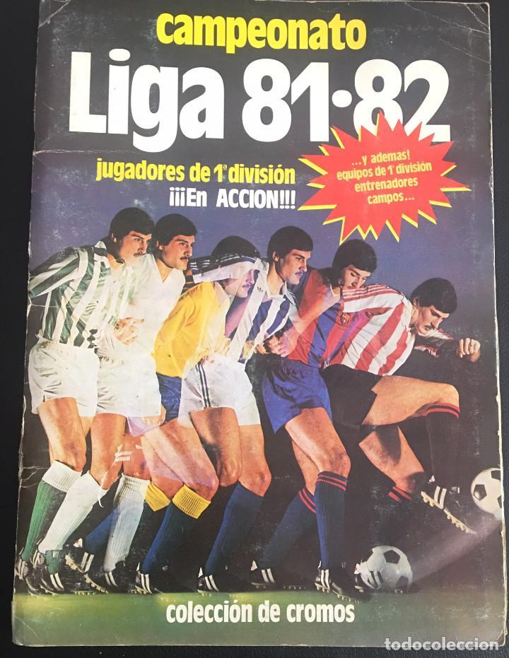 ALBUM DE CROMOS COMPLETO CAMPEONATO LIGA 81-82 ESTE 1981 1982 (Coleccionismo Deportivo - Álbumes y Cromos de Deportes - Álbumes de Fútbol Completos)