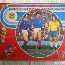 Álbum de fútbol completo: ALBUM CROMOS COPA MUNDIAL 1978 ARGENTINA 78 100% COMPLETO NAVARRETE PERU EDICION. Lote 86728436