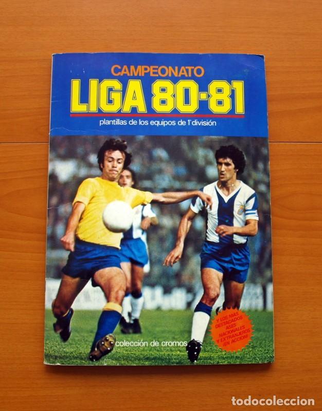ÁLBUM CAMPEONATO, LIGA 80-81, 1980-1981 - EDICIONES ESTE - COMPLETO - VER FOTOS EN EL INTERIOR (Coleccionismo Deportivo - Álbumes y Cromos de Deportes - Álbumes de Fútbol Completos)