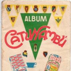 Álbum de fútbol completo: ALBUM CATUNAMBU, 1960-61,TIENE 19 CROMOS CON LEVE SEÑALES DE CUÑO DE TINTA. Lote 87048924