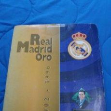 Álbum de fútbol completo: REAL MADRID ORO - ÁLBUM COMPLETO (216 CARDS, TODAS) - 1996 - PERFECTO ESTADO . Lote 87060774