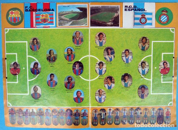Álbum de fútbol completo: ALBUM FUTBOL, CAMPEONATO LIGA 1975-76, 75-76 MAGA , COMPLETO, CROMOS TROQUELADOS AUTOADHESIVOS, H - Foto 3 - 87068612