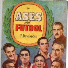 Álbum de fútbol completo: ALBUM, ASES DEL FUTBOL,1944-45, DE BRUGUERA,. Lote 87071316