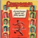 Álbum de fútbol completo: ALBUM CAMPEONES, 1954 - 1955, DE BRUGUERA, CROMOS EN PLANCHA DE LOS 32 EQUIPOS, 384 CROMOS. Lote 87297976