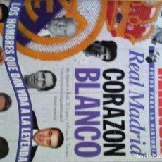 Álbum de fútbol completo: FOTOS PARA LA HISTORIA REAL MADRID CORAZÓN BLANCO. Lote 87411668