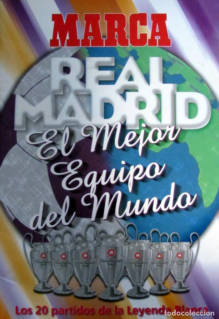 ALBUM CROMOS MARCA STICKERS REAL MADRID MEJOR EQUIPO MUNDO 20 PARTIDOS LEYENDA (Coleccionismo Deportivo - Álbumes y Cromos de Deportes - Álbumes de Fútbol Completos)