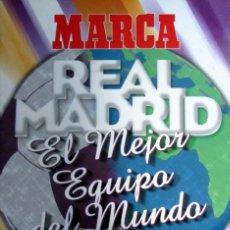Álbum de fútbol completo: ALBUM CROMOS MARCA STICKERS REAL MADRID MEJOR EQUIPO MUNDO 20 PARTIDOS LEYENDA. Lote 87962708
