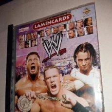 Álbum de fútbol completo: SMACK DOWN RAW ECW - WWE - ALBUM CASI COMPLETO FALTA 1 CROMO - LUCHA LIBRE - EDIBAS MUNDI CROMO. Lote 88358008