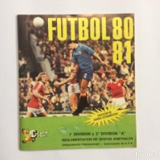 Álbum de fútbol completo: ÁLBUM CROMOS FUTBOL 80 81 CROMO CROM COMPLETO Y SOBRE VACÍO. Lote 88401040