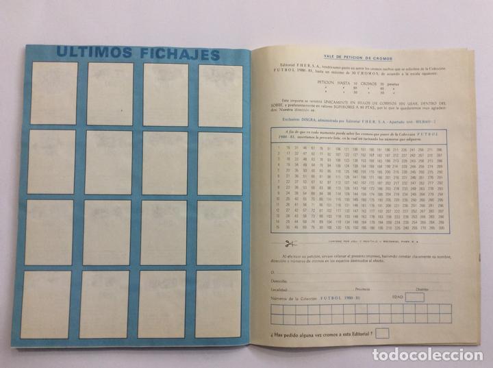 Álbum de fútbol completo: Álbum Cromos FUTBOL 1980 1981 MÁS SOBRE VACÍO - Foto 16 - 88407564