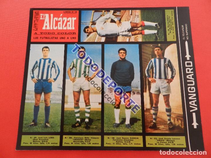 Álbum de fútbol completo: COLECCION COMPLETA CROMOS EL ALCAZAR LIGA 67/68 SIN PEGAR 1967/1968 - INCLUYE LAMINA COMPLEMENTARIA - Foto 21 - 88855064