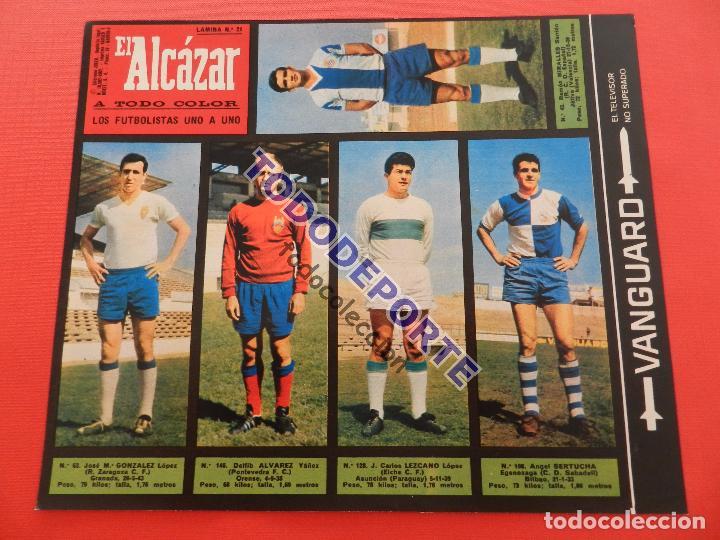 Álbum de fútbol completo: COLECCION COMPLETA CROMOS EL ALCAZAR LIGA 67/68 SIN PEGAR 1967/1968 - INCLUYE LAMINA COMPLEMENTARIA - Foto 22 - 88855064