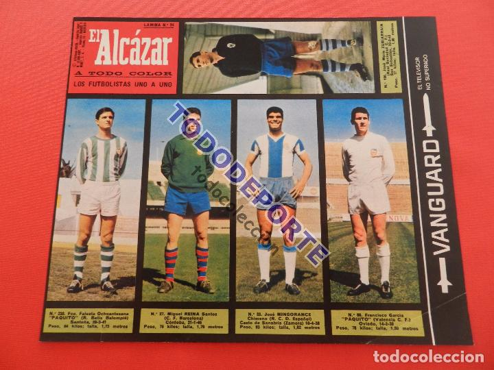 Álbum de fútbol completo: COLECCION COMPLETA CROMOS EL ALCAZAR LIGA 67/68 SIN PEGAR 1967/1968 - INCLUYE LAMINA COMPLEMENTARIA - Foto 25 - 88855064