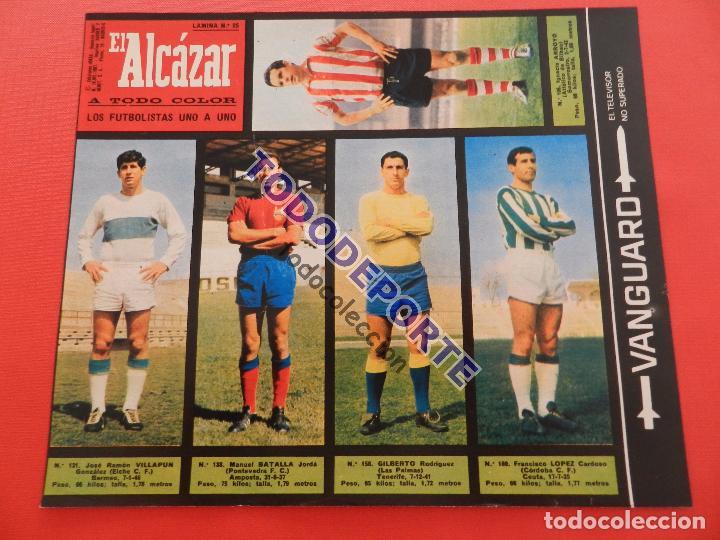 Álbum de fútbol completo: COLECCION COMPLETA CROMOS EL ALCAZAR LIGA 67/68 SIN PEGAR 1967/1968 - INCLUYE LAMINA COMPLEMENTARIA - Foto 26 - 88855064