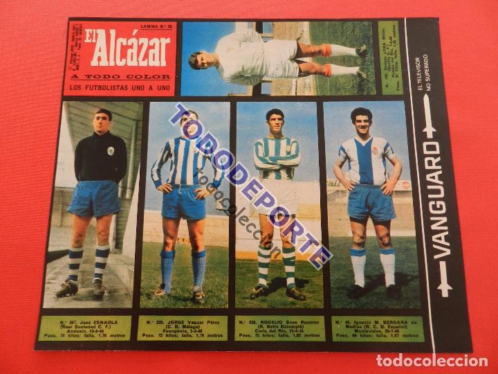Álbum de fútbol completo: COLECCION COMPLETA CROMOS EL ALCAZAR LIGA 67/68 SIN PEGAR 1967/1968 - INCLUYE LAMINA COMPLEMENTARIA - Foto 27 - 88855064